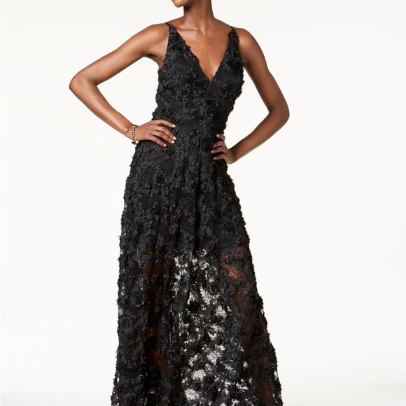 7343a06c Xscape Dresses | Floral Lace Gown Black | Poshmark